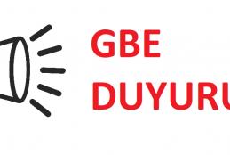 GBE Duyuru