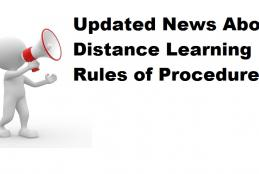 Distance Learning Rules of Procedures- Updated News